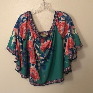 Flying tomato top, size large, multi colors